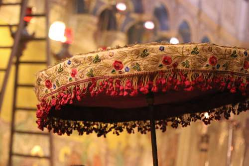 Church Umbrella Ladder Church Of The Holy Sepulcher