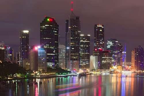 City Nightlife Brisbane Australia