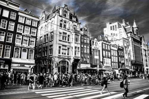 City Amsterdam Netherlands Architecture Urban