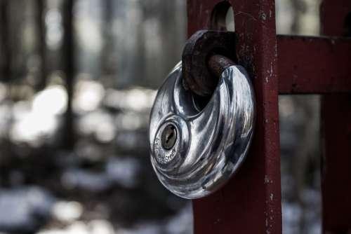Closed Padlock Metal