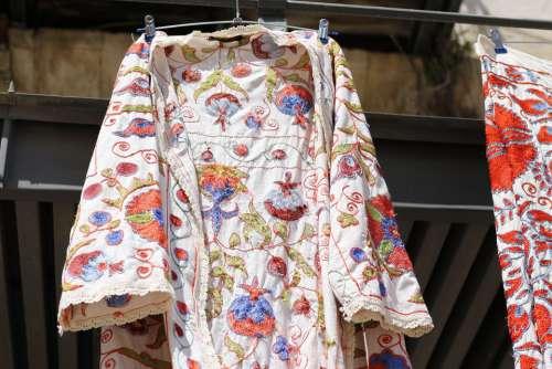 Cloth Dress Market Hanger Colorful Pattern