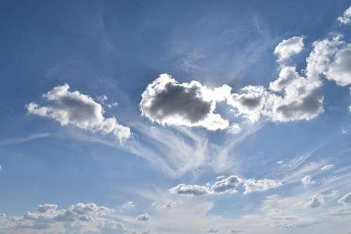 Clouds Sky Blue Horizon White Lyon