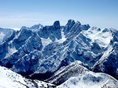 Cristalloscharte Südtirol Winter Land Mountains