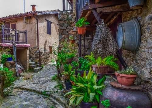 Cyprus Kakopetria Village Street Architecture