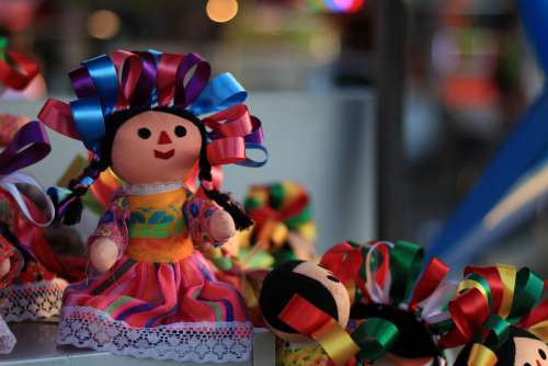 Dolls Color Mexico Toys Colorful Sweet Cute