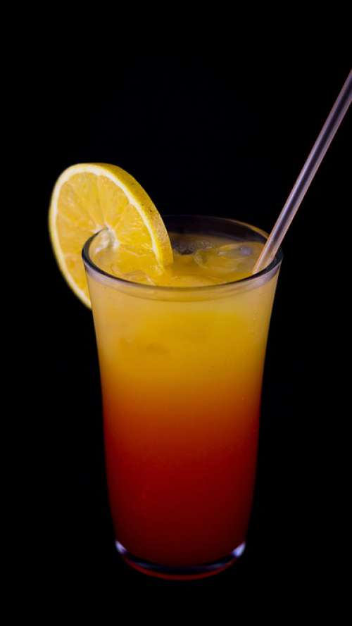 Drink Food Fresh Straw Orange Red