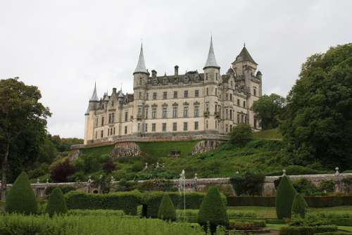Dunrobin Castle Scotland Old Historic Architecture