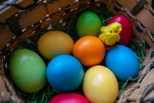 Easter Eggs Osterkorb Easter Easter Nest Egg