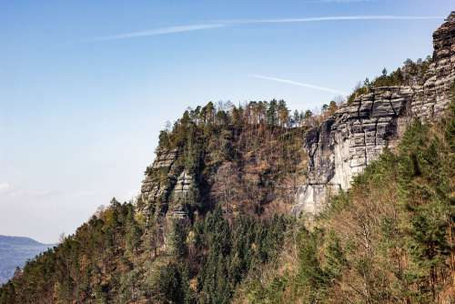 Elbe Sandstone Travel Nature View Mountains