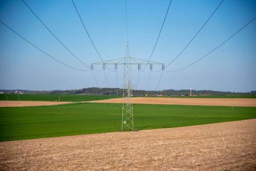 Energy Electricity Line Current High Voltage