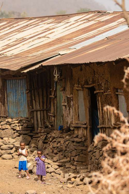 Ethiopia Africa House Residence Poverty Children