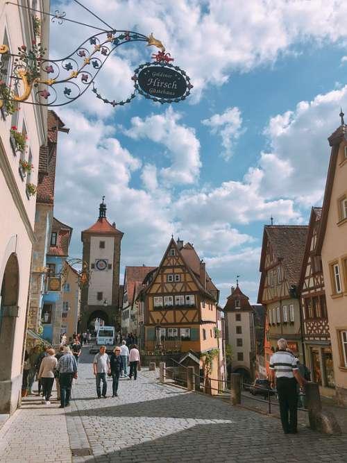 Europe Street Tourism Travel Tourist People City