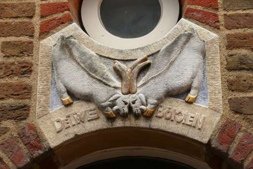 Facing Brick Facade Wall Decoration Stone Goat