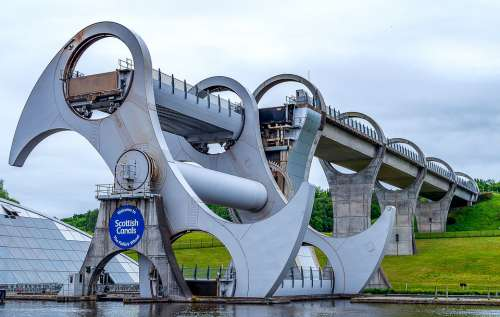 Falkirk Wheel Boat Lift Forth And Clyde Canal