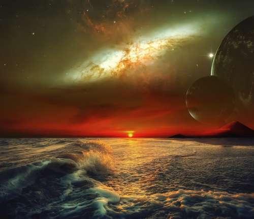 Fantasy Cosmos Space Star Sky Astronomy Planet