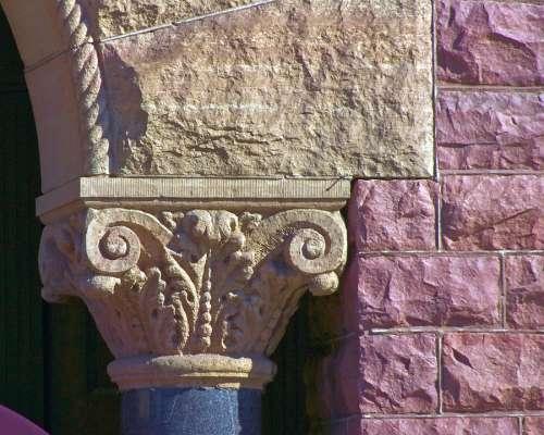 Faux Corinthian Column Stones Architecture Column