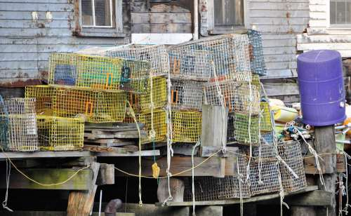 Fishing Port Baskets Old Fish Lapsed Mess