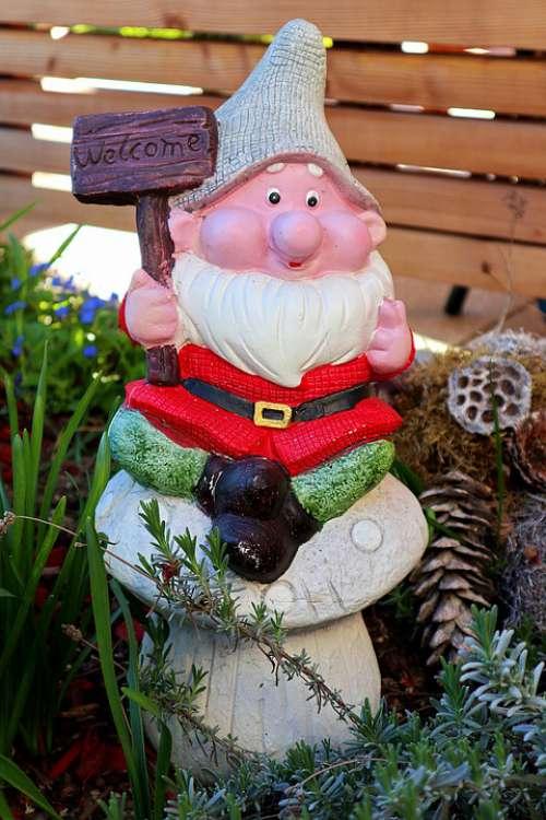 Garden Gnome Garden Welcome Dwarf Funny Imp