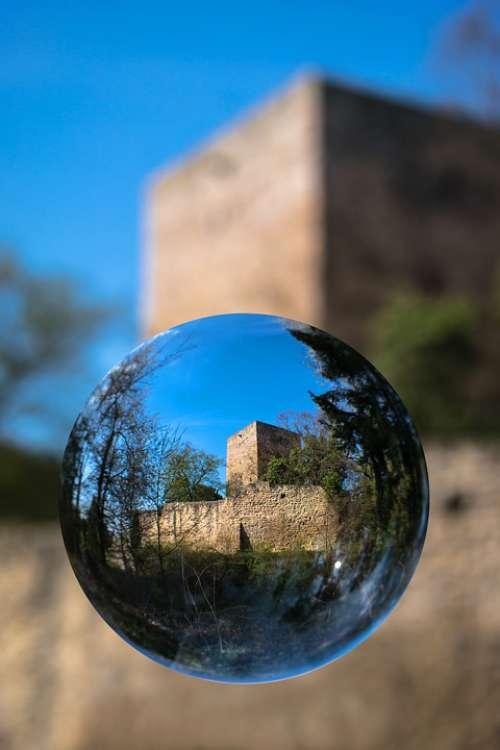 Glass Ball Castle Ruin Ball Fortress Keep Donjon
