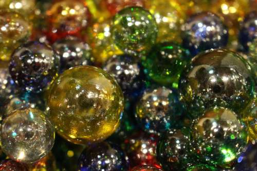 Glass Beads Toy Glitter Glass Marble