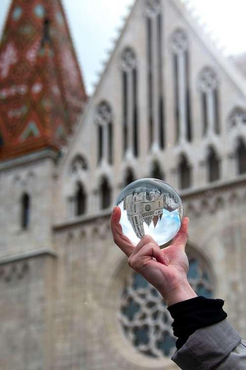 Glass Globe Fotógömb Buda Castle Budapest