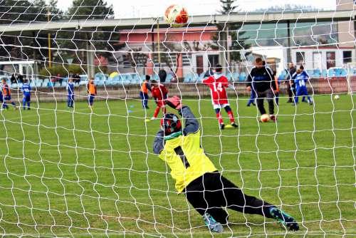 Goalkeeper Football Footballer Younger Pupils Sport