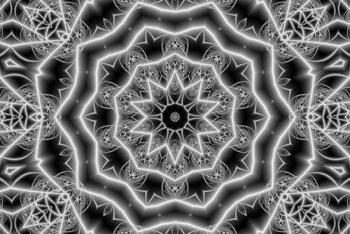 Graphics Ornament Flower Star Template Grunge