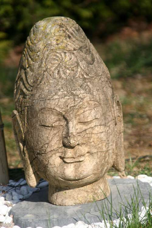 Head Buddha Calm Serenity Smile Meditation Zen