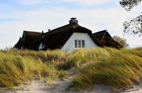 House Dunes Baltic Sea Coast Summer