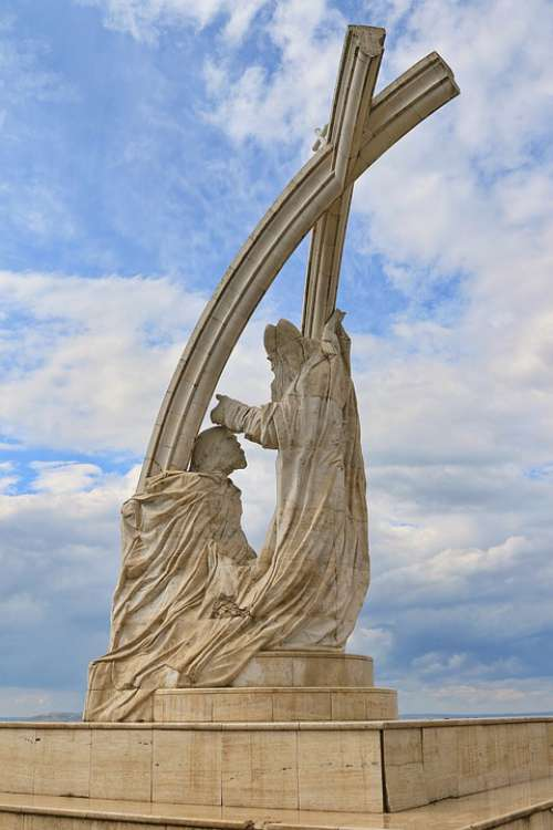 Hungary Esztergom Statue St Stephen'S