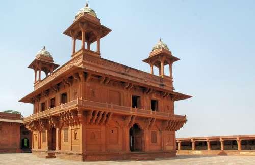 India Fahtepur-Sikri Palace Pavilion Maharajah