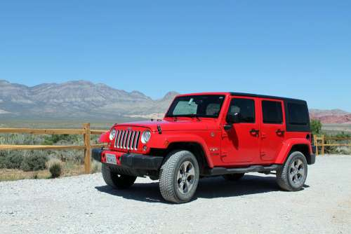 Jeep Wrangler Off-Road Car American Auto Vehicle