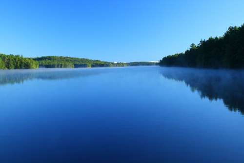 Lake Water Nature Landscape Waters Sky Blue