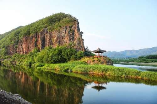 Landscape River Reflect Scenery