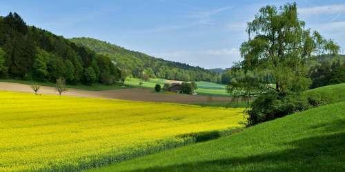 Landscape Nature Wide Farmhouse Fields