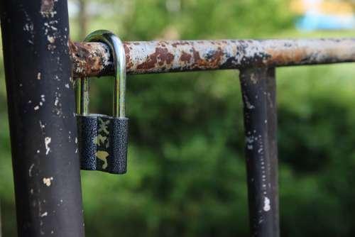 Lock Old Metal Rusty Antique Security Safe Rust