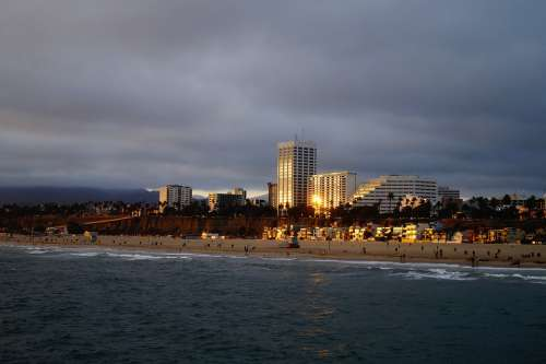 Los Angeles Usa Westcoast Beach Coast Sunset Sea