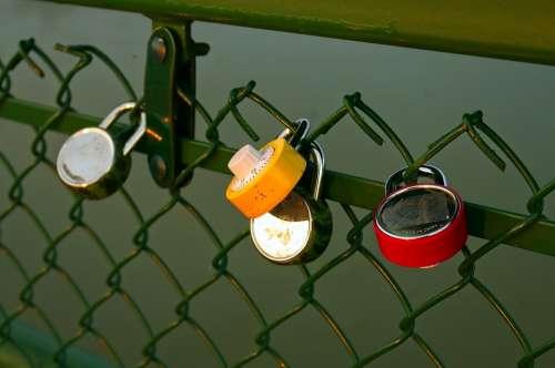 Love Lock Padlocks Heart Friendship Lock Symbol