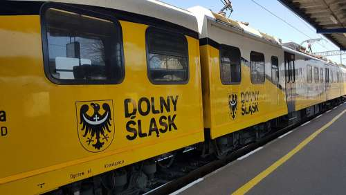 Lower Silesia Pkp Railway Train Transport Peron