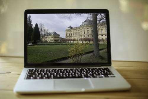 Macbook Workplace Mac Computer Travel Würzburg