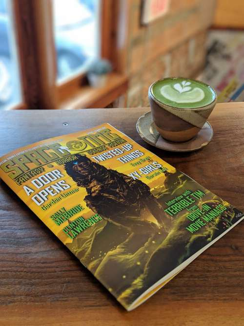 Magazine Cafe Read Literature Matcha Latte Coffee