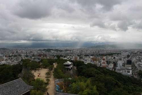 Matsuyama Rain Cloud Raindrops Cloud Shower Sky