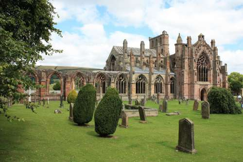 Melrose Abbey Scotland Medieval Ruin Historical
