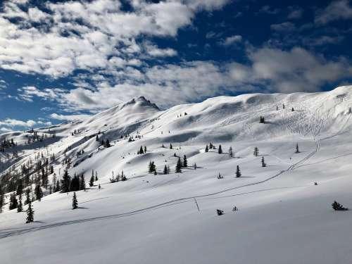 Mountain Snow Austria Winter Alpine Outdoors High