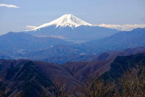 Mountain Japan Fuji Peak Mountain Range