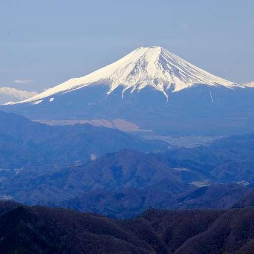 Mountain Peak Japan Fuji Snow
