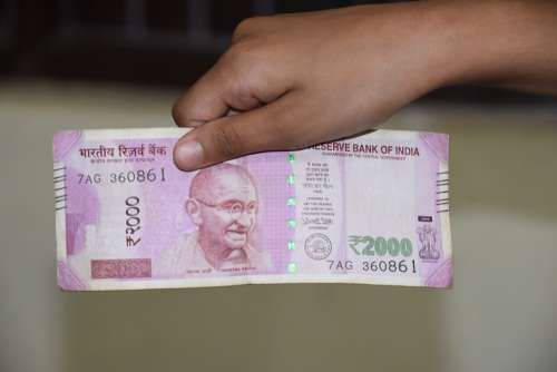 Note Indian Rupees Currency Cash Money Wealth