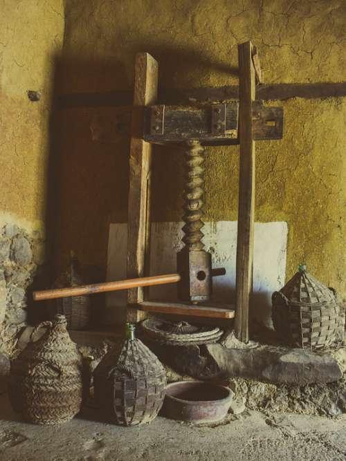 Olive Mill Press Old Mediterranean Rural