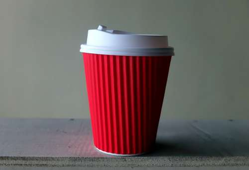 Paper Coffee Cup Hot Drink 12Oz Plastic Lid
