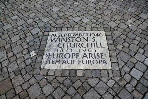 Patch Shield Grey Road Zurich Speech Churchill